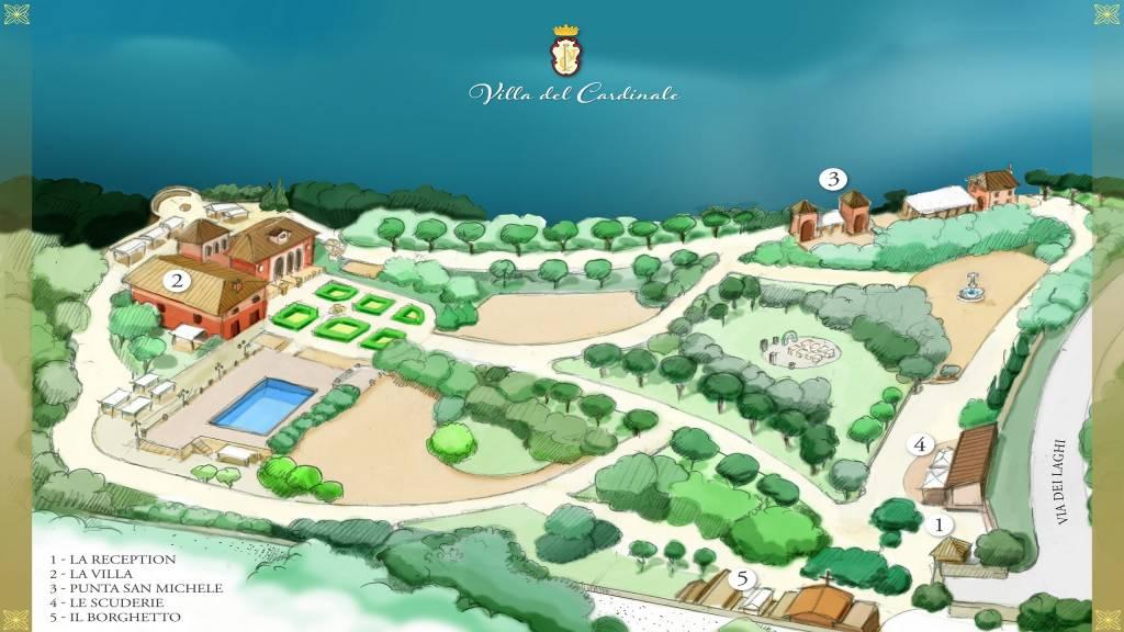 Pianta-Villa-del-Cardinale-Lago-Albano