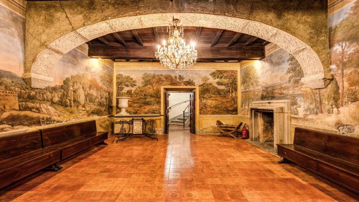Villa-Del-Cardinale-Rocca-di-Papa-Lago-Albano-Affrescata2