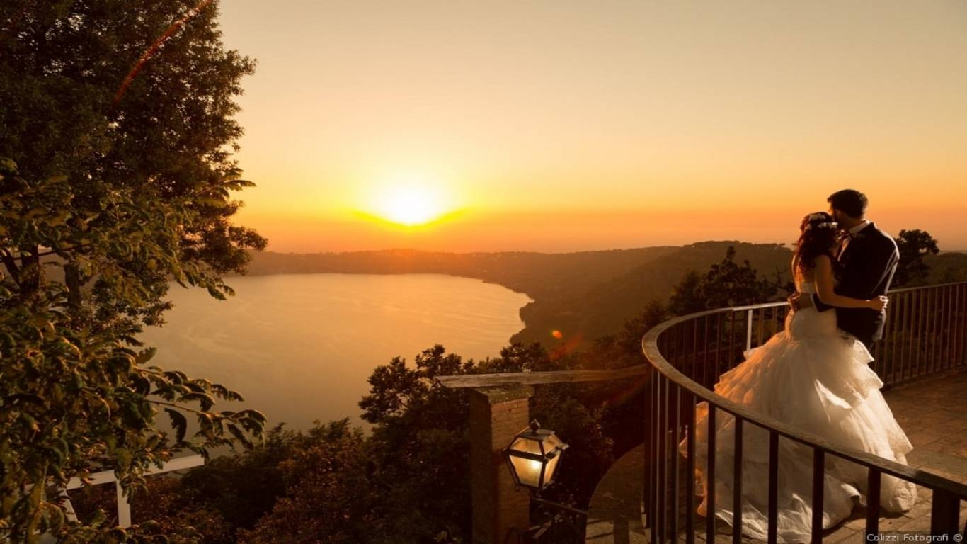 wedding-sunset-lake-albano-evening